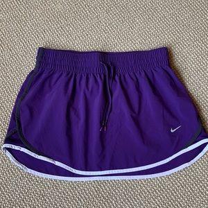 Purple Nike exercise skirt
